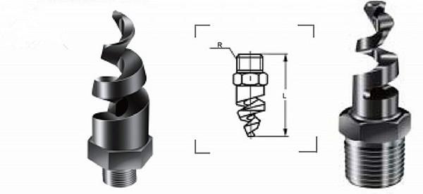 螺旋喷嘴的结构图    不管是不锈钢螺旋喷嘴